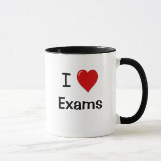 Caneca Eu amo exames - os exames amam-me!