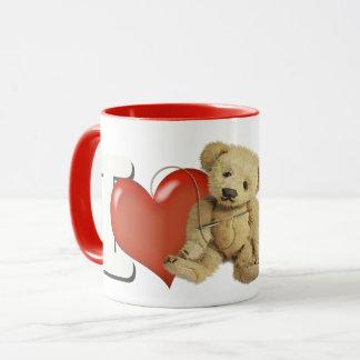 Caneca Eu amo fazer os ursos personalizados