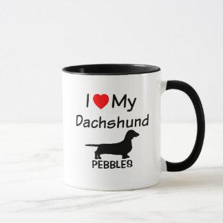 Caneca Eu amo meu Dachshund