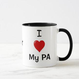 Caneca Eu amo meu PA e meu PA ama-me!