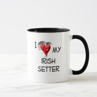 Caneca Eu amo meu setter irlandês