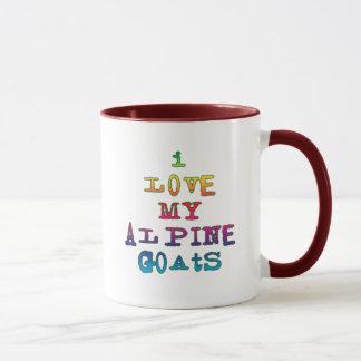 Caneca Eu amo minhas cabras alpinas