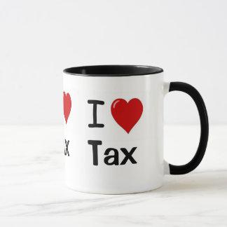 Caneca Eu amo o imposto que eu amo o imposto mim