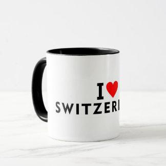 Caneca Eu amo o país da suiça como o touri do viagem do