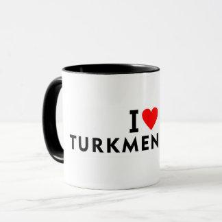 Caneca Eu amo o país de Turkmenistan como a excursão do