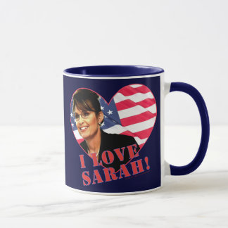 Caneca Eu amo Sarah Palin
