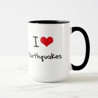 Caneca Eu amo terremotos