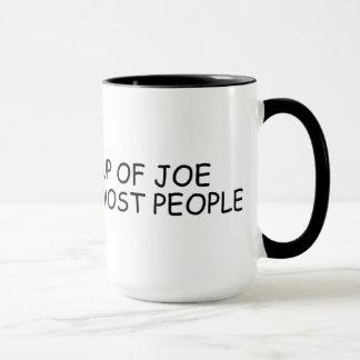 Caneca Eu gosto de um copo de Joe mais do que a maioria