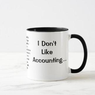 Caneca Eu não gosto da contabilidade explicando do amor
