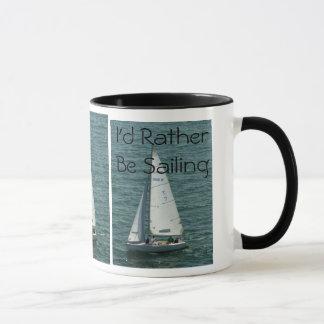 Caneca Eu preferencialmente estaria navegando, o veleiro
