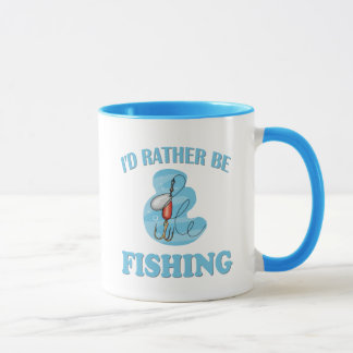Caneca Eu preferencialmente estaria pescando