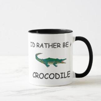 Caneca Eu preferencialmente seria um crocodilo