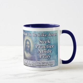 Caneca Eu quero ser como o copo de café de Jesus