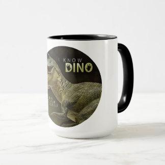 Caneca Eu sei o logotipo de Dino