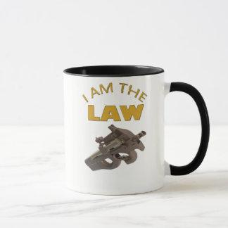 Caneca Eu sou a lei com uma metralhadora m4a1
