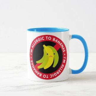Caneca Eu sou alérgico às bananas! Alergia da banana