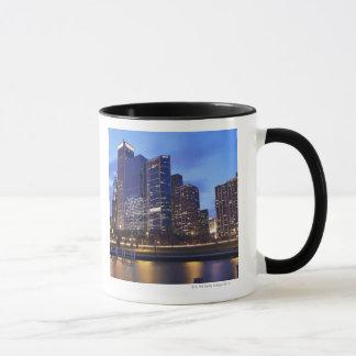 Caneca EUA, Illinois, Chicago, skyline da cidade de