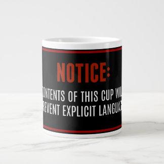 Caneca explícita da língua