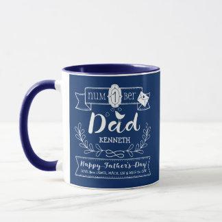Caneca Faça a seu próprio pai do no. 1 do dia dos pais o