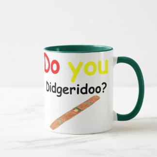 Caneca Faça-o copo do didgeridoo
