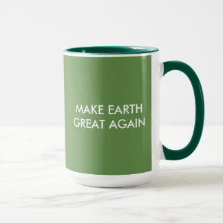 Caneca Faça o excelente da terra (e o verde) outra vez!