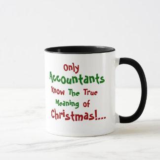 Caneca famosa das citações do Natal do contador