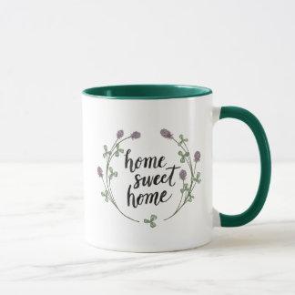 Caneca Feliz às palavras da casa da abelha mim casa doce