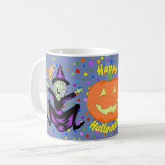 Caneca feliz do Dia das Bruxas da bruxa