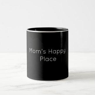 Caneca feliz do lugar da mãe