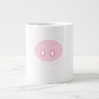 Caneca feliz do porco do sono