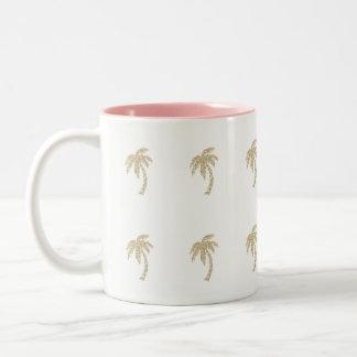 Caneca feminino do chá do café das palmeiras do