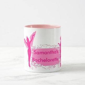 Caneca Festa de solteira feminino cor-de-rosa