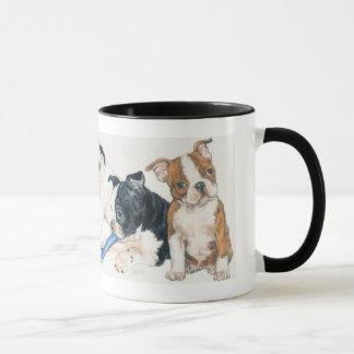 Caneca Filhotes de cachorro de Boston Terrier