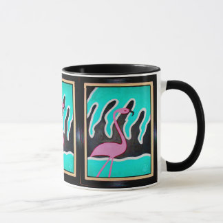 Caneca Flamingos do art deco