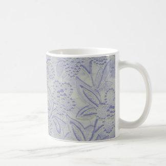 Caneca floral azul