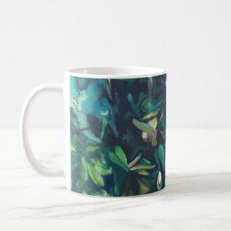 Caneca floral cerâmica da magnólia tropical