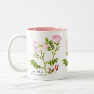 Caneca floral clássica - rosa de cão