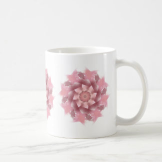 Caneca floral cor-de-rosa bonito