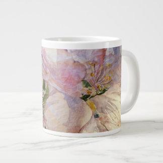 Caneca floral da arte da aguarela das flores