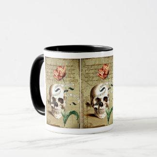 Caneca floral do Dia das Bruxas da escrita do