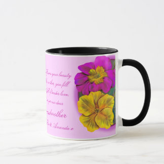 Caneca floral do presente das belas artes do