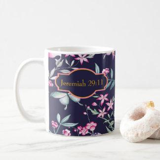 Caneca floral do verso customizável da bíblia