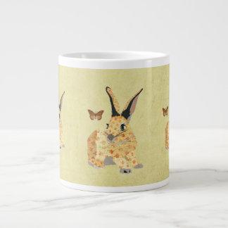Caneca floral gasto do coelho jumbo mug