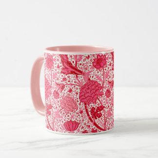 Caneca Floral Jacobean de William Morris, rosa do coral