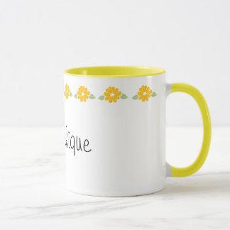 Caneca Flores amarelas conhecidas de Angelique