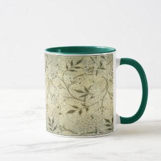 Caneca Flores & folhas do jasmim do ~ de William Morris