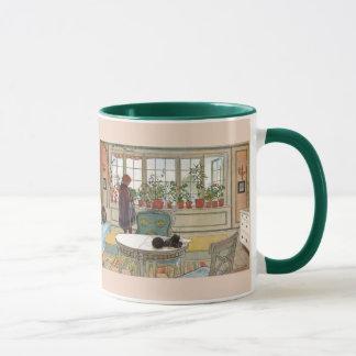 Caneca Flores no Windowsill por Carl Larsson