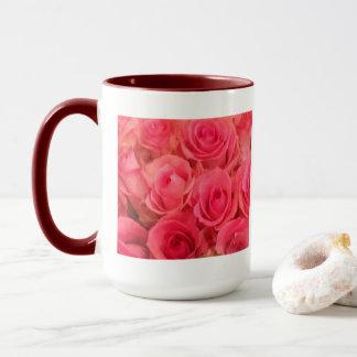 Caneca Foto cor-de-rosa dos rosas