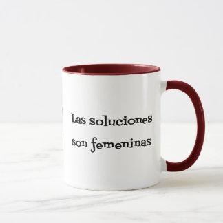 Caneca Frase espanhola dos soluciones dos problemas