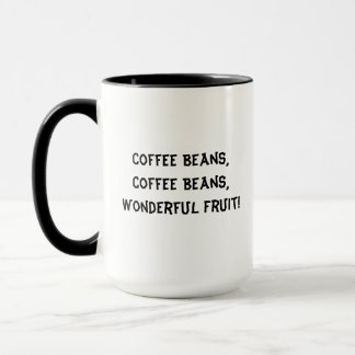 Caneca Fruta maravilhosa dos feijões de café